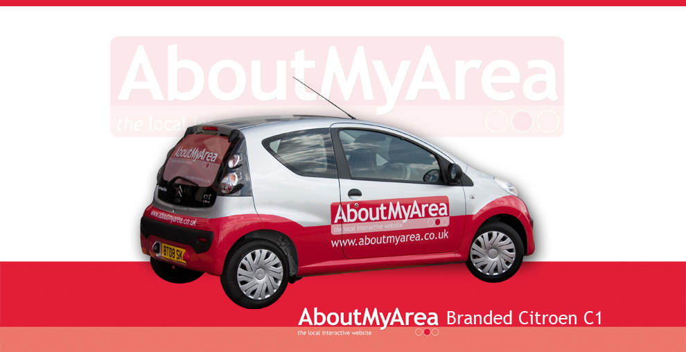 AboutMyArea Branded Car